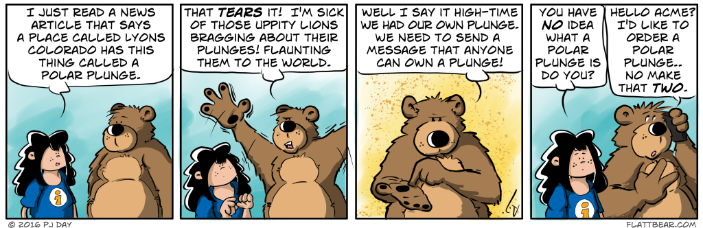 "I so wanted to call today's strip ""Polar Crap,""  but I opted to call the chapter that."
