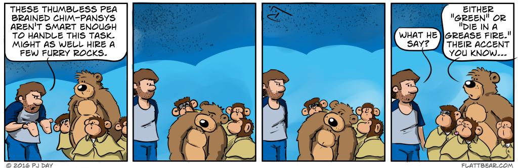 Furry rocks.  That's funny stuff.