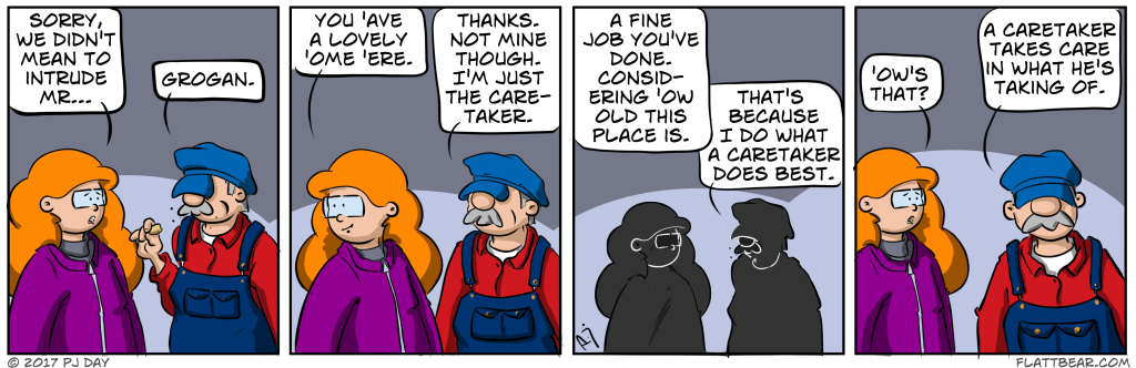 I literally wrote this strip whilst I drew it.  Had no idea what it was going to be about.  Rubbish.