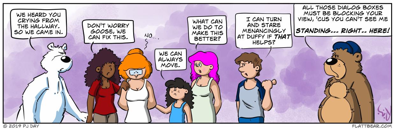 Negative dialog is especially dense.